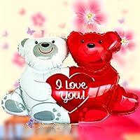 Love Bear ラブベアー かわいいクマの風船 1m バルーン 100cm バルーンバナー 誕生日 パーティー 飾り用 ジャンボ 巨大 風船
