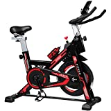 TODO Exercise Bike Stationary Indoor Cardio Training Cycling Bike with LCD Monitor, Support Up to 330 lbs