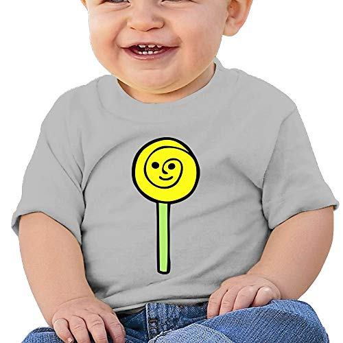 Baby Girls Toddler Happy Lollipop Short Sleeve Tshirt