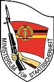 U24 Aufkleber DDR Stasi Wappen Emblem Autoaufkleber Sticker Konturschnitt