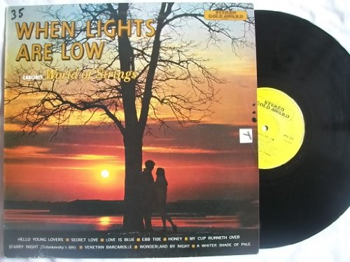 CARLINI'S WORLD OF STRINGS When Lights Are Low vinyl LP