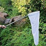 Ausziehbares Schmetterlings- und Insektennetz, ideal zum Fangen von Insekten und Käfern, Edelstahlgriff, ausziehbar von 38 cm bis 150 cm