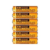6PCS NI-MH AAA Rechargeable Battery 1.2V 550mAh for Panasonic Cordless Phone HHR-55AAABU Replacement Battery
