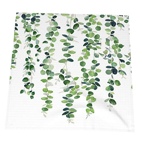 Homes Dining Cloth Napkins Table Decor Eucalyptus Garland 4 pcs 20 by 20 Inches Reusable Durable Napkins Ideal for Home Parties Restaurants Hotels
