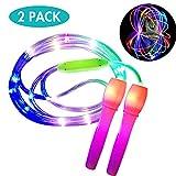 ANBET 2er Pack LED Light Up Springseil Länge verstellbar und