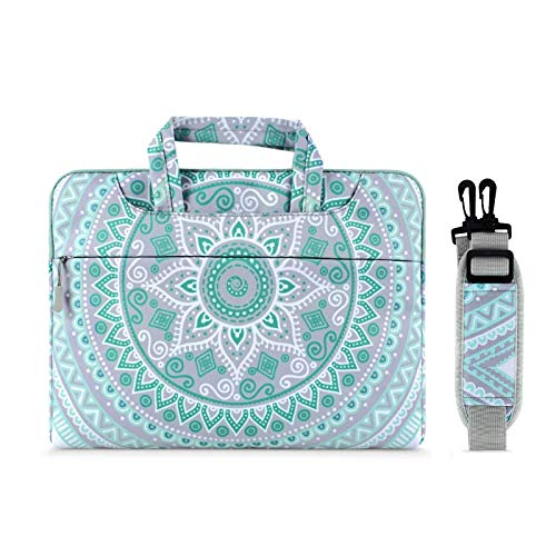 MOSISO Laptop Schultertasche Kompatibel mit 13-13,3 Zoll MacBook Pro, MacBook Air, Notebook Computer,Schutzhülle Aktentasche Mandala MO-MDL001