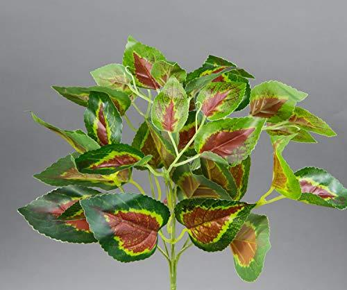 Seidenblumen Roß Buntnessel 25cm grün-rot ZF Kunstpflanzen künstliche Pflanzen Nessel