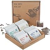 Quality Ground Coffee Bags - Fairtrade, Organic, Single Origin, 100% Arabica (Selection Box, Box of 16 Individually Wrapped Coffee Bags)