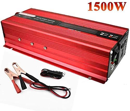 QJM AC convertidor de coche 500W 1000W 1500W 2000W de potencia del inversor - 12V / 24V A 110V / 240 Inversor convertidor de CC a CA for el coche - Con encendedor de cigarrillos Enchufe del cable Conv