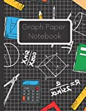 Graph Paper Notebook: Simple Graph Paper Journal - Quad Ruled 4x4 Pages 8.5 x 11 Inches, Grid Notebook Paper For Math and Science Students