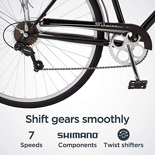 51iowazPR6L。 SL500 Schwinn Discover Hybrid Bike for Men and Women