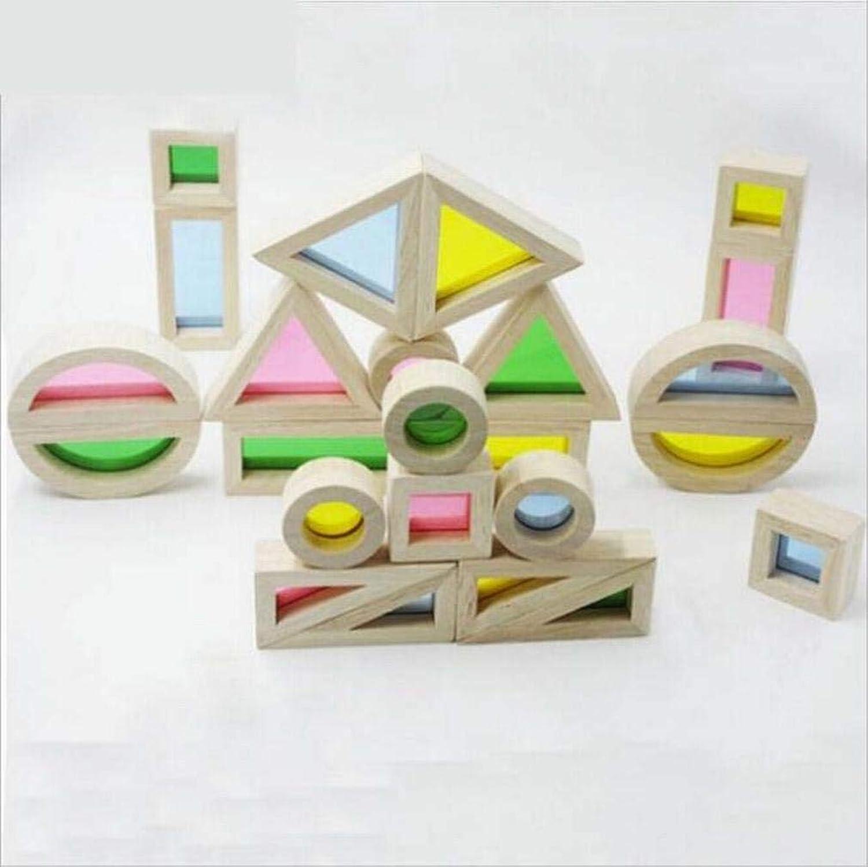 L Y Regenbogen Blöcke Baby Frühes Lernen Kreative Lernen Lernen Lernen Puzzle Holz Kinder Spielzeug Bausteine,Ein B07GBLR8KP  Abrechnungspreis 49c078