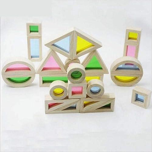 L Y Regenbogen Bl e Baby Frühes Lernen Kreative Lernen Puzzle Holz Kinder Spielzeug Bausteine,Ein