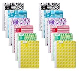 Mead Composition Books/Notebooks, Wide Ruled Paper Composition Notebook, 100 Sheets (200 Pages), Fashion Designs - (12 Pack)