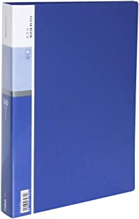 60-Pocket Business A4 Sheet Presentation Book, 120-Page Capacity for A4 and Letter Size Inserts File-N-View Presentation Display Book