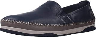 Fluchos | Zapato de Hombre | Kendal F0810 Habana Lago Gris | Zapato de Piel | Cierre con Elásticos | Piso de Goma