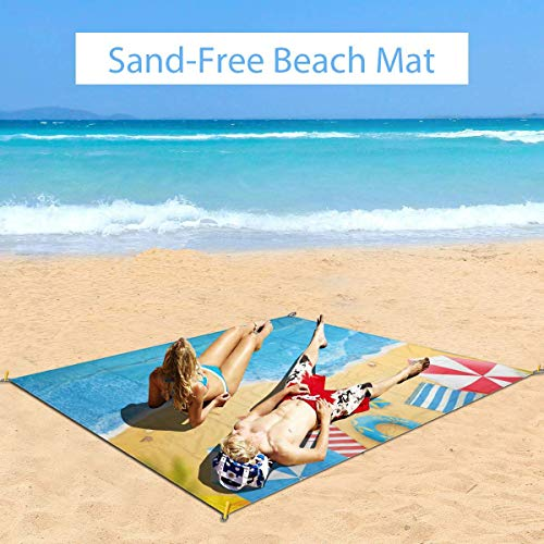 Great Features Of MTDKX Large Waterproof Outdoor Picnic Blanket, Summer Fun Bay from Above Vista Ill...