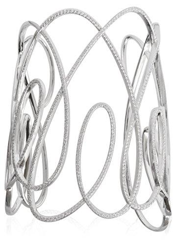 apm Monaco Damen-Armreif Sterling Silber Zirkonias 6 cm Durchmesser AB3038OX-M