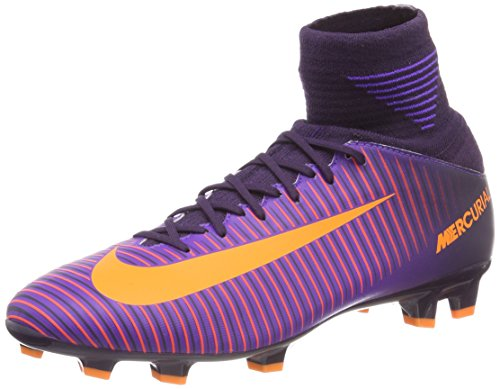 Nike Mercurial Superfly V Junior Fußballschuhe, Mehrfarbig (Purple Dynasty/Hyper Grape/total Crimson/Bright Zitrus), 37.5 EU