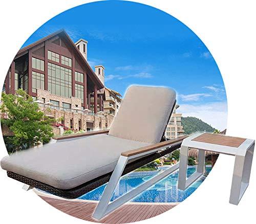 QQ HAO Cama De Silla De Playa Al Aire Libre, Silla De Ratán De Ocio A Prueba De Agua, Patio Al Aire Libre Cama para Villa Hotel Piscina Balcón Bed Sofá