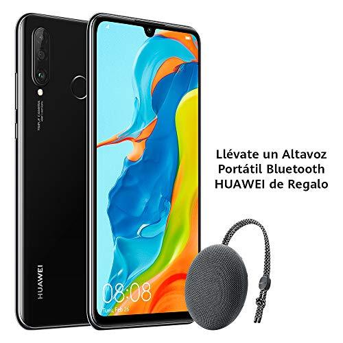 "Huawei P30 Lite - Smartphone de 6.15"" (WiFi, Kirin 710, RAM de 6 GB, memoria de 256 GB, cámara de 48+2+8 MP, Android 9) Negro + CM51 Gris"