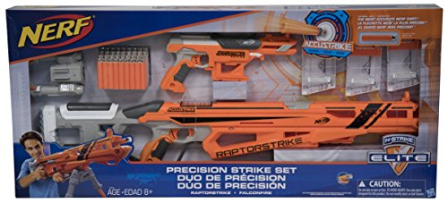 Nerf N-Strike Elite Precision Strike Set RaptorStrike and FalconFire Blasters