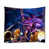 A.Monamour Wandteppiche Lila Krake In Blue Planet National Aquarium In Kopenhagen Dänemark Unterwasser Szene Druck Textil Stoff Wandbehang Tapisserie Gardinen Tischdecke Bettdecke Strandtuch 180x230cm