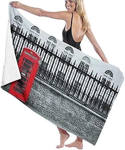 Telo Mare Grande 130 ×80cm, Punto di riferimento della città di Londra ,Asciugamano da Spiaggia in Microfibra Asciugatura Rapida,Ultra Morbido,Uomo,Donna,Bambina