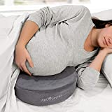 Abco Tech Pregnancy Pillow Wedge - Maternity Pillow – Best Support for Belly, Back, Leg, Hip, Body and Knees – Pain Relief – Memory Foam – Compact and Portable – Washable Cover - Travel Bag Included