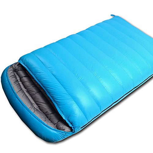 QFFL shuidai Sac de Couchage Enveloppe/Sac de Couchage en Duvet/Sac de Couchage Double Lovers/Sac de Couchage rectangulaire extérieur imperméable léger (220 * 130CM) (Couleur : Bleu)