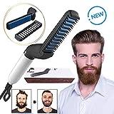 Dolphor Redresseur de barbe,Chauffe Rapidement avec Pinceau Styler pour Hommes, lissage des Cheveux bouclés, Styler rapide pour les hommes, Rapide barbe lisseur peigne Lisseur Styler pour Cheveux