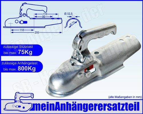 ALBE Berndes Zugkugelkupplung Anhängerkupplung Zugrohr rund 70mm EM 80 R G 05170