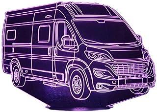 FIAT ELIOS camper, Lampada illusione 3D con LED - 7 colori.