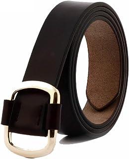 Women's Belt Width Skinny Elastic Waist Belt Stretch Cinch Belt Thin Belt (Color : Coffee)