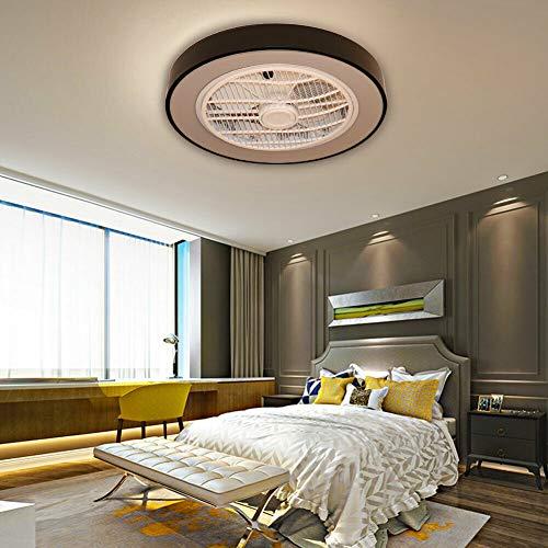 Ventilador de techo moderno de 22 pulgadas con iluminación, ventilador, luz LED, regulable, mando a distancia, 3 modos de iluminación para dormitorio, salón, comedor