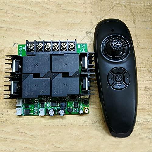 GzxLaY 1 Juego 12V / 24V / 36V Kit de transmisor y Receptor 2.4G Control Remoto 800M Distancia 520A ESC Cepillado para Piezas de Repuesto de Modelo RC Baot