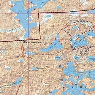 McKenzie BWCA/Quetico Canoe Map Number 17