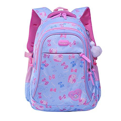 Los bolsos de escuela de los niños mochilas ortopédicas de dibujos animados a prueba de agua bolsas de escuela para niños niñas de gran capacidad sky blue