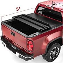 oEdRo Tri-Fold Truck Bed Tonneau Cover Compatible with 2015-2021 Chevy Colorado/GMC Canyon with 5 Feet Bed, Fleetside