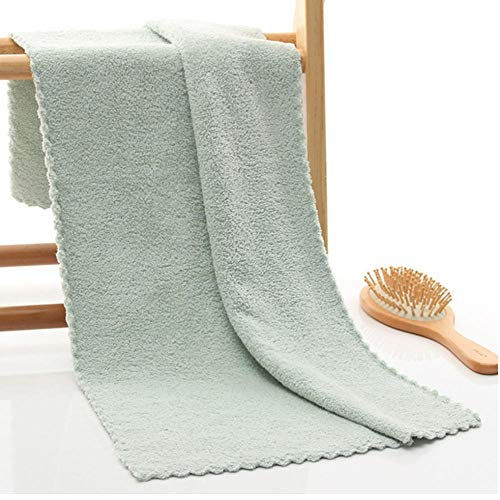 Effen kleur Zachte handdoek Microfiber Stof Schoonheid Gezicht Handdoek Douche Bad Sporthanddoek Huis Badkamer Hotel Voor volwassenen Kinderen Cyaan-blauw 35x75cm