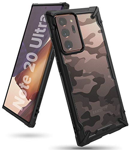 Ringke Fusion-X for Galaxy Note 20 Ultra Case Back Cover, [Military Drop Tested] Ergonomic Camo PC Back TPU Bumper Impact Resistant Protection for Galaxy Note 20 Ultra Back Cover Case - Camo Black