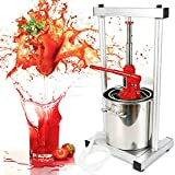 12L Fruit Press 304 Stainless Steel with Hydraulic Jack Pressing Plate Fruit Crusher Food Processor Press Wine Press Apple Press for Juice Making
