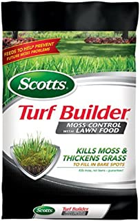 Scotts 38505 Turf Builder, 5,000-sq ft Lawn Food with Moss Control Fertilizer, 5 M