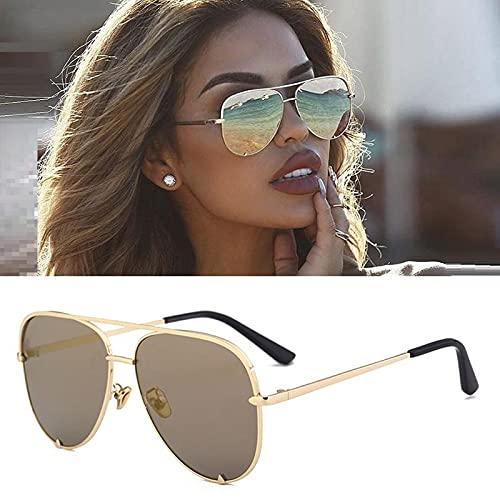 Gafas De Sol De Aviación Piloto para Mujer, Gafas De Sol Clásicas Retro con Degradado, Té De Diseñador De Marca De Lujo para Hombre Y Mujer
