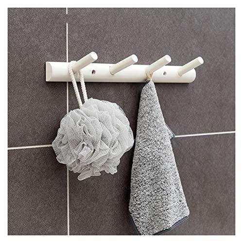 Gancho montado en la pared Escudo de montaje en pared simples ganchos for colgar de la pared creativa fila gancho montado en la pared de bambú ropa estante gancho de ropa colgada Escudo Bolsa Toalla R