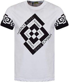 Men's White Black Logo Short Sleeve T-Shirt