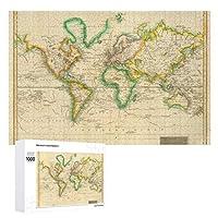 INOV 巧みな世界地図37 ジグソーパズル 木製パズル 1000ピース インテリア 集中力 75cm*50cm 楽しい ギフト プレゼント
