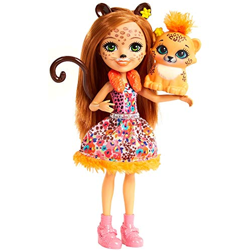Enchantimals FJJ20 Gepardenmädchen Cherish Cheetah Puppe