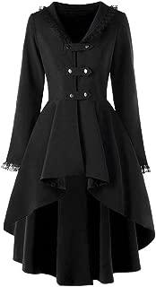 Women's Tailcoat Trenchcoat Punk Jacket Gothic Uniform Lace Patchwork Tuxedo Cosplay Costume Steampunk Vintage