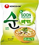 Nongshim Pack de 20 Nouilles Instantanées Ramyun Végétariennes Epicé Doux 112 g